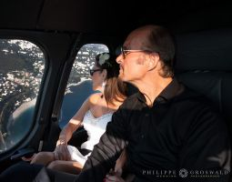 Wedding at Monte Carlo in Helicopter of the Metropole at Vista Palace